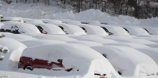 Opady w Massachusetts. Wystarczyła chwila i spadło ponad 60 cm śniegu /CJ GUNTHER /PAP/EPA