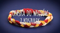 Opaska ze sznurków z koszulek
