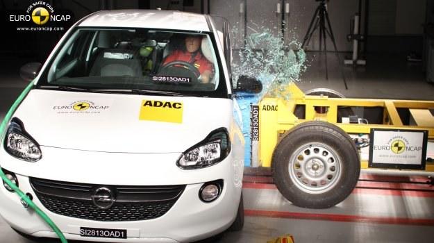 Opel Adam w teście zderzeniowym Euro NCAP /Euro NCAP