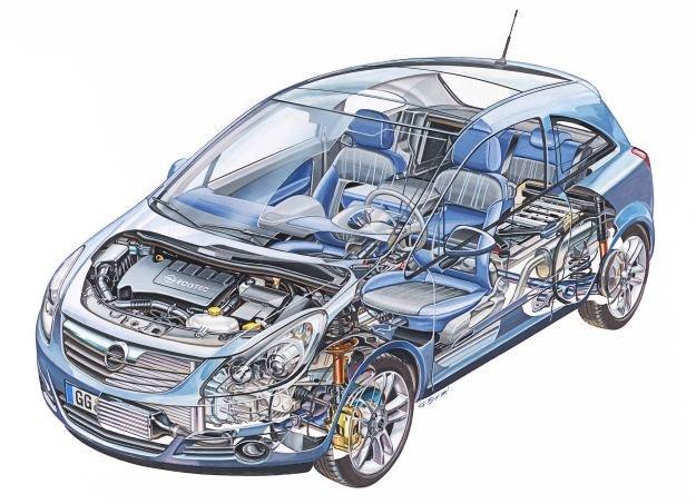 Opel corsa D - rozwiązania techniczne /