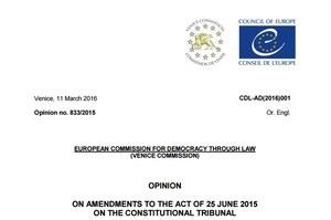 Opinia Komisji Weneckiej. Cały tekst