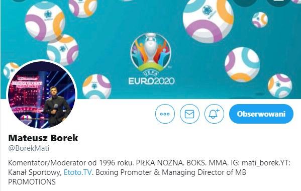 Opis profilu Mateusza Borka /Twitter