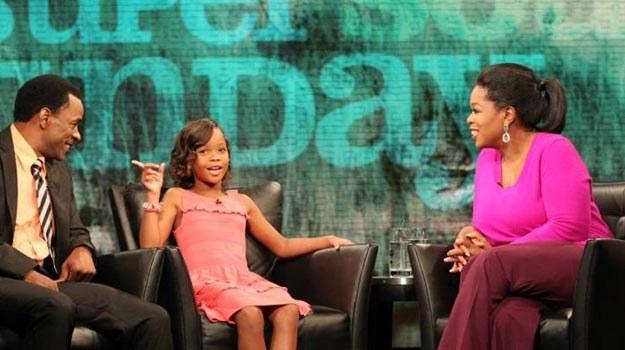 """Oprah Winfrey w rozmowie z aktorami """"Bestii z południowych krain"""" /Internet"""