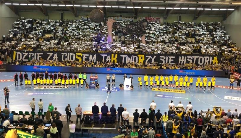 Oprawa przed meczem PGE Vive Kielce - PSG /INTERIA.PL