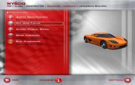 Oprócz wyboru pojazdu, możemy także dobrać ulubionego kierowcę /INTERIA.PL
