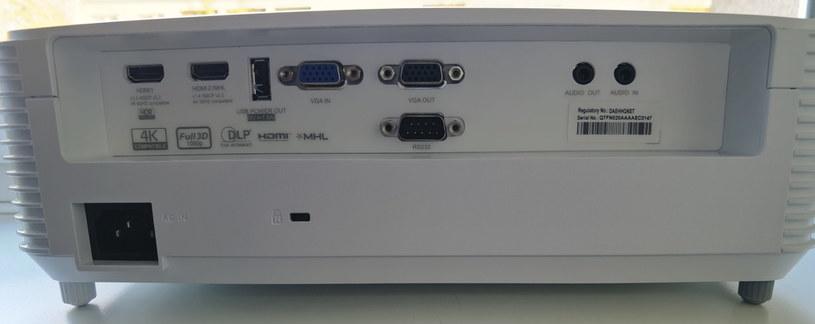 Optoma HD29HST - porty/złącza /INTERIA.PL