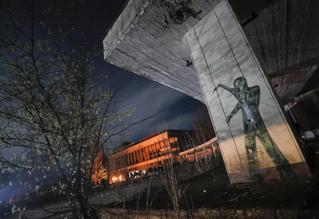 Opustoszałe miasto w pobliżu Czarnobyla w 35. rocznicę katastrofy /SERGEY DOLZHENKO /PAP/EPA