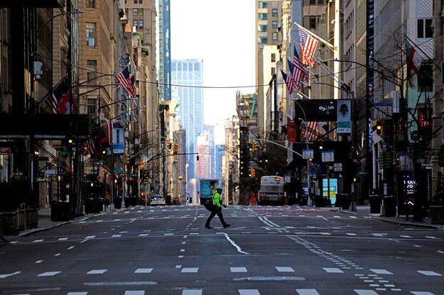 Opustoszały Nowy Jork /Peter Foley /PAP