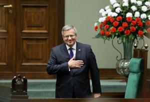 Orędzie Bronisława Komorowskiego przed Zgromadzeniem Narodowym