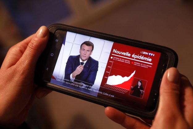 Orędzie prezydenta Francji /SEBASTIEN NOGIER  /PAP/EPA