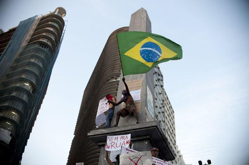 Organizacja mundialu w Brazylii nie spodobała się wielu mieszkańcom tego kraju. /AFP