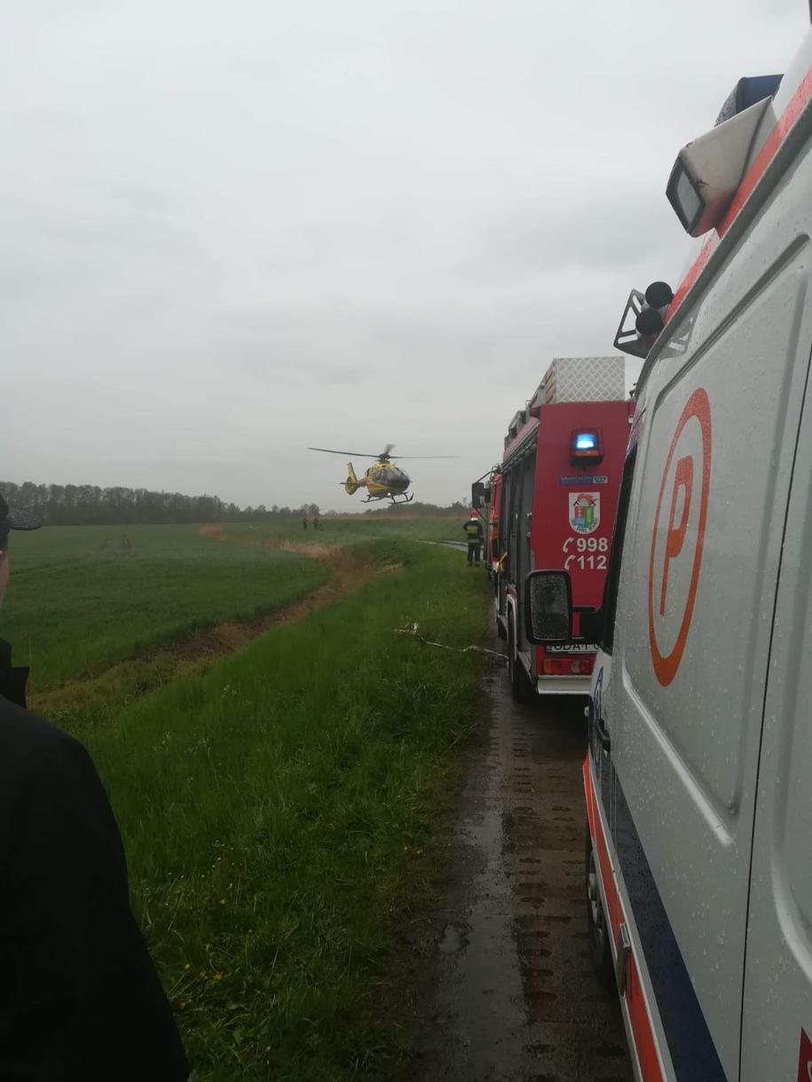 Organizatorzy rajdu nie chcą komentować wypadku /Fot. KP PSP Pruszcz Gdański /Policja