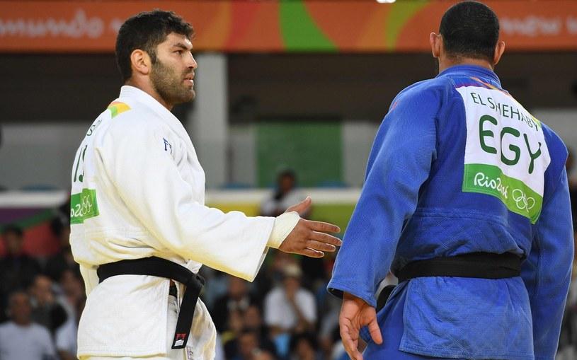 Ori Sasson (z lewej) i Islam El Shehaby podczas igrzysk w Rio /AFP