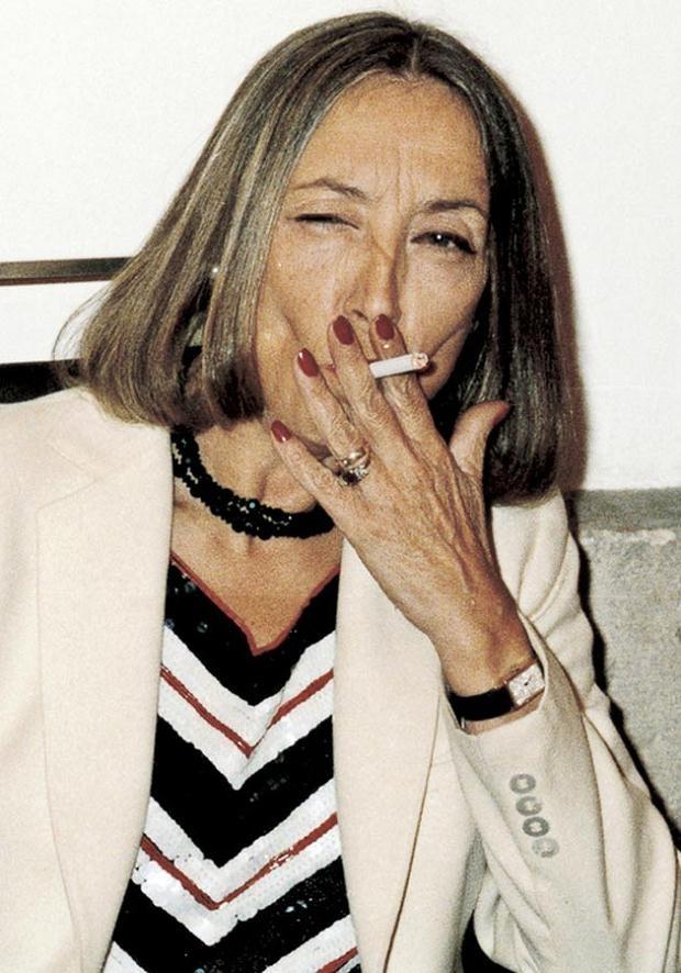 Oriana Fallaci, w którą ma się wcielić Monica Belluci.  /AFP