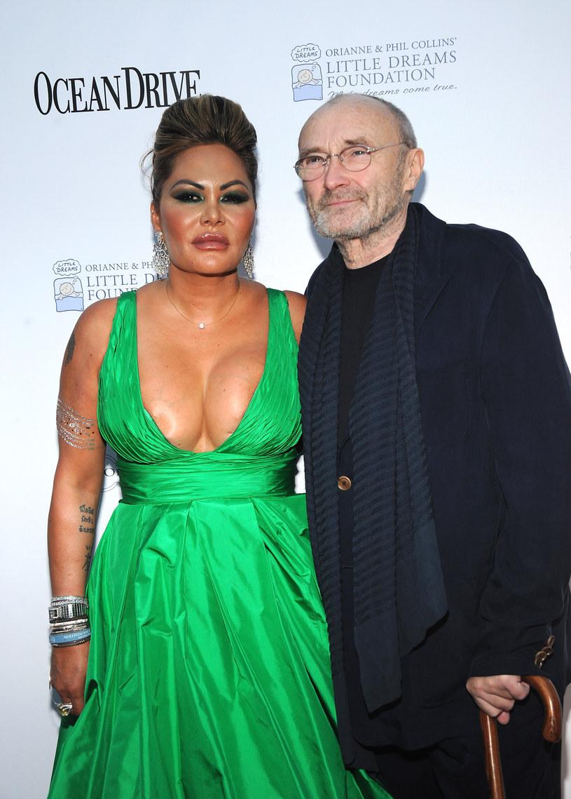 Orienne Cevey i Phil Collins /Desiree Navarro /Getty Images