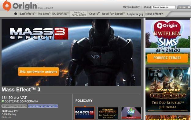 Origin - zdjęcie elektronicznego systemu dystrybucji EA /Informacja prasowa