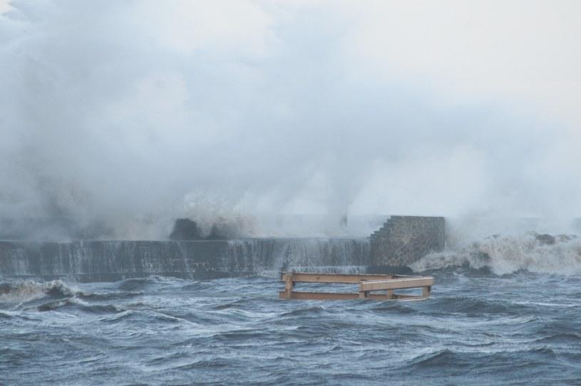 Orkan Barbara na Wybrzeżu /Hubert Bierndgarski /Reporter