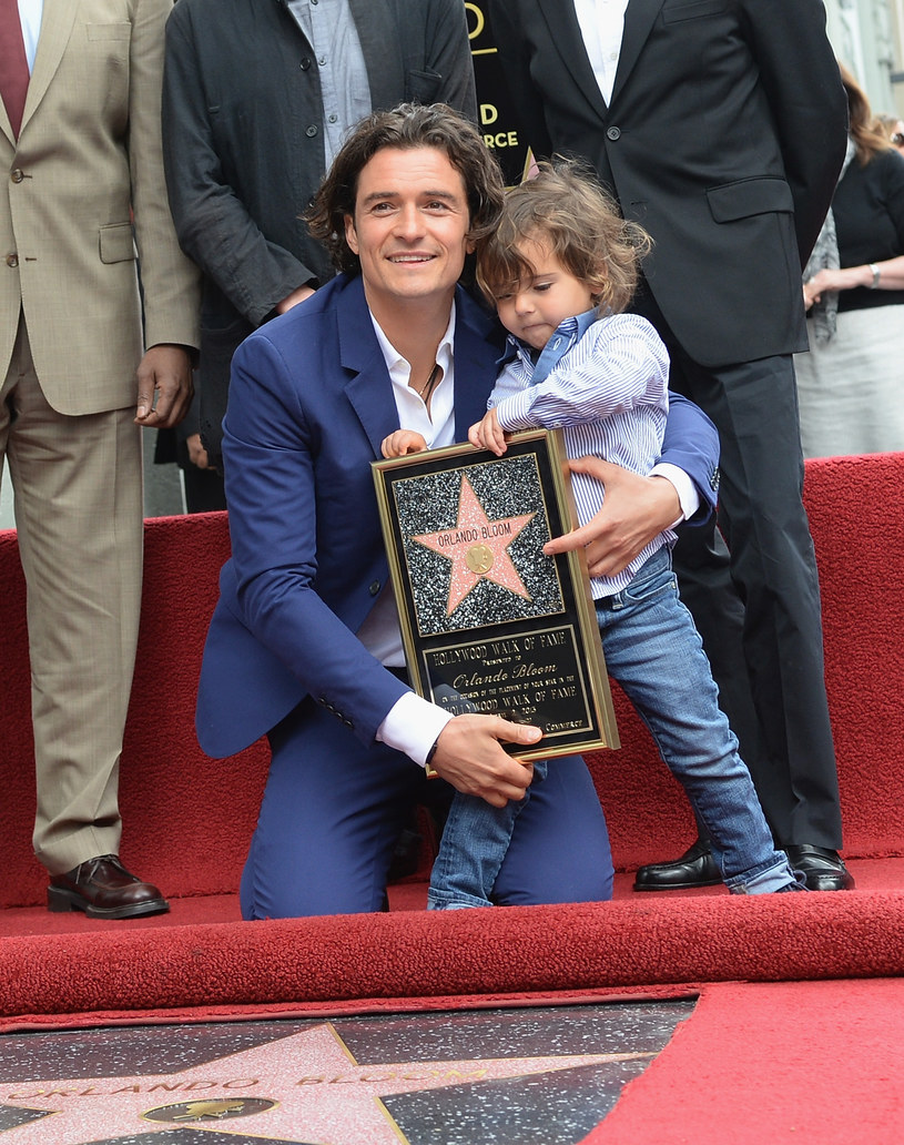 Orlando Bloom z synem, Flynnem /Jason Kempin /Getty Images