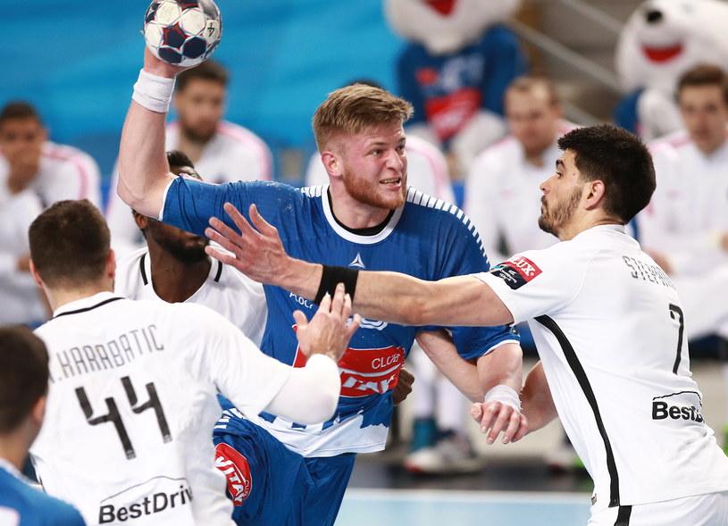 Orlen Wisła Płock walczyła dzielnie, ale nie sprostała jednemu z najlepszych zespołów na świecie /Marcin Bednarski /PAP