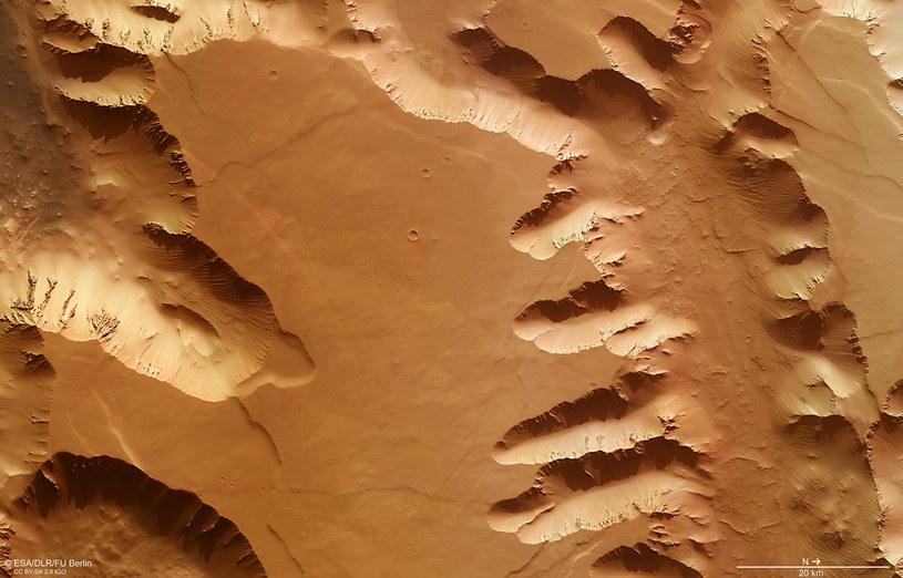 Oryginalny widok z sondy Mars Express /materiały prasowe