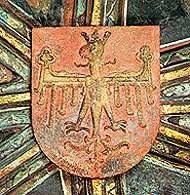 Orzeł z czasów jagiellońskich ze sklepienia kaplicy Św. Krzyża na Wawelu /Encyklopedia Internautica