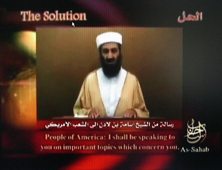 Osama bin Laden był najbardziej poszukiwanym terrorystą na świecie /A9999 DB Intelcenter /PAP/EPA