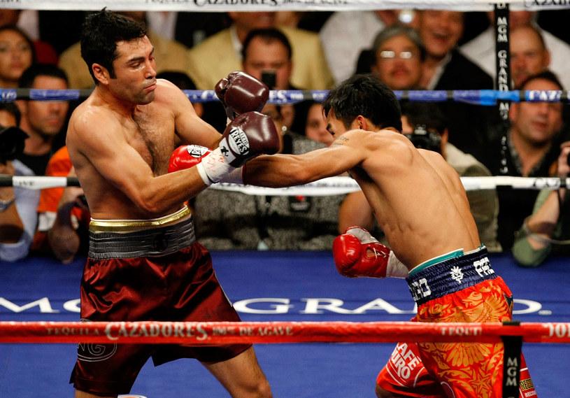 Oscar De La Hoya (z lewej) i Manny Pacquiao /Getty Images