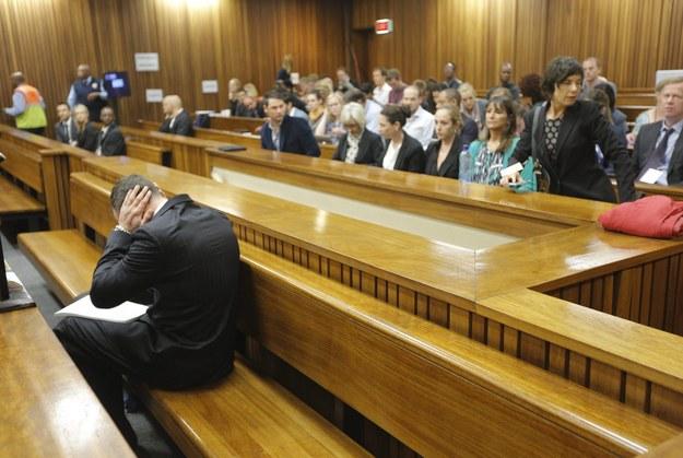 Oscar Pistorius na sali sądowej, marzec 2014 /KIM LUDBROOK/POOL /PAP/EPA