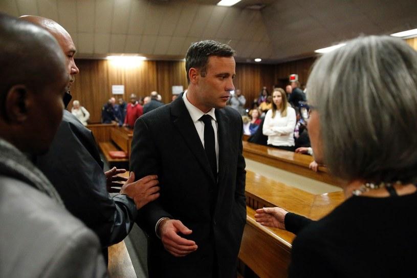 Oscar Pistroius podczas rozprawy sądowej /AFP