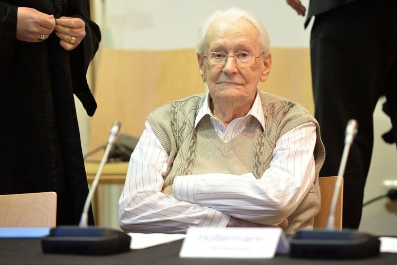 Oskar Groening przed sądem /AFP