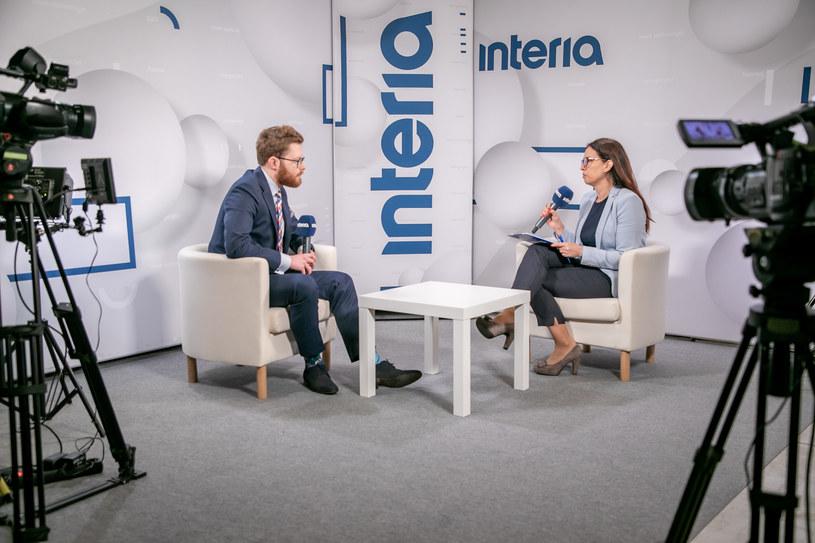 Oskar Sobolewski, ekspert Instytutu Emerytalnego w studiu Interii /Fot. Ireneusz Rek /INTERIA.PL