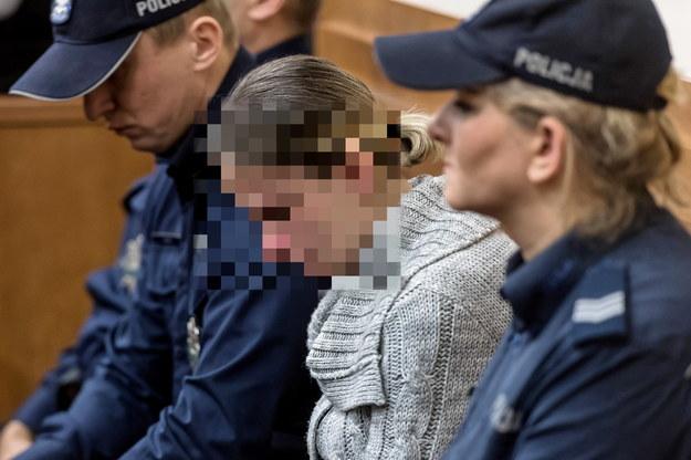Oskarżona Natalia W. na sali rozpraw / Maciej Kulczyński    /PAP
