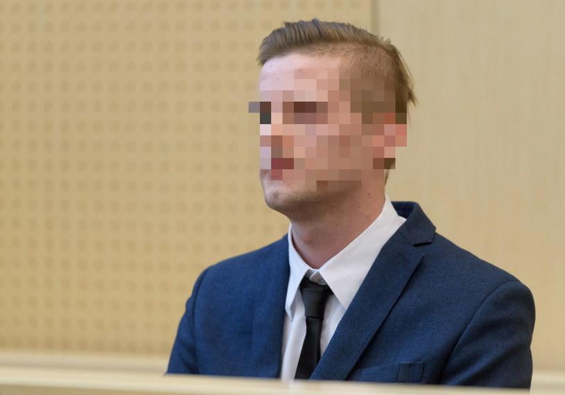 Oskarżony Adam Z. na sali sądowej, przed rozprawą /Jakub Kaczmarczyk /PAP