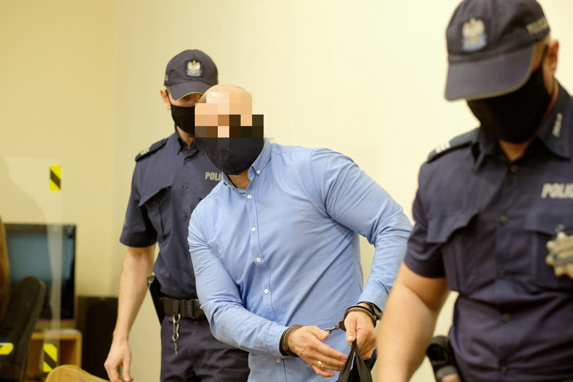 Oskarżony Maciej M., ps. Maślak na sali Sądu Okręgowego w Katowicach. / PAP/Andrzej Grygiel /PAP