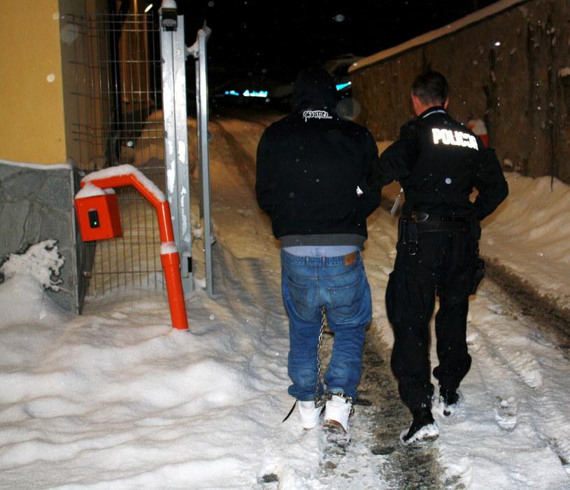 Oskarżony o zaatakowanie podczas zabawy sylwestrowej w Bukowinie Tatrzańskiej dwóch mężczyzn /Policja /PAP