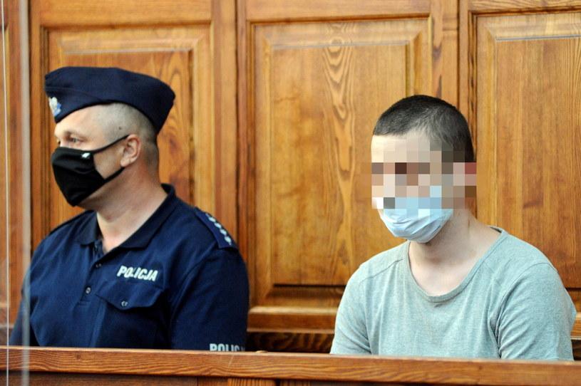 Oskarżony Przemysław T. na sali Sądu Okręgowego w Koszalinie, / Marcin Bielecki    /PAP