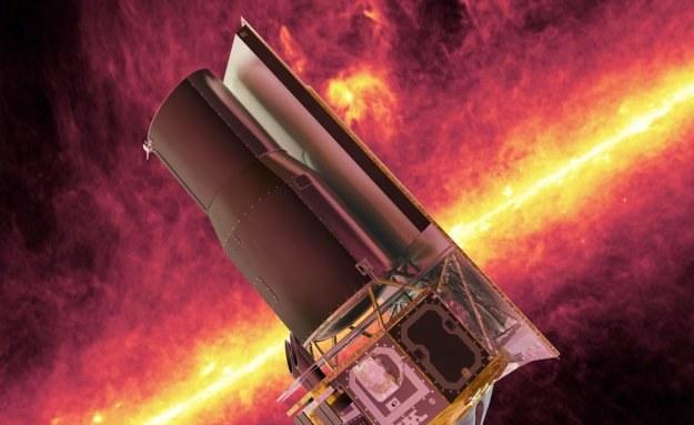 osmiczny Teleskop Spitzera w przestrzeni kosmicznej - wizualizacja /NASA