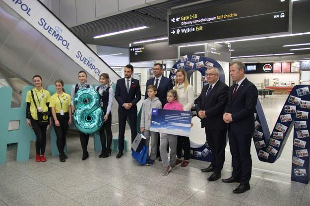 Ośmiomilionowy pasażer lotniska Kraków-Balice /Wojciech Michalski /RMF FM