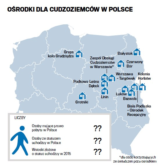 Ośrodki dla cudzoziemców w Polsce /Gazeta Wyborcza
