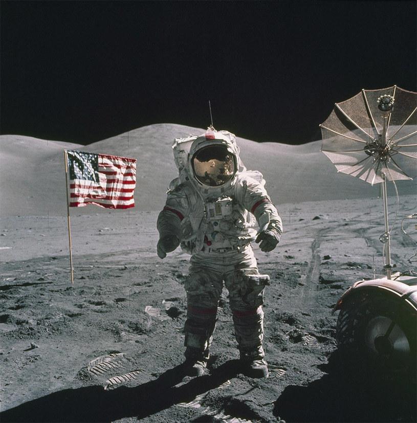 Ostatni człowiek, który stanął na Księżycu - podczas misji Apollo 17 /NASA