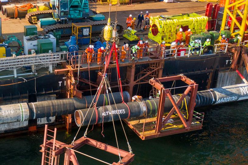 Ostatni etapu budowy rurociągu Nord Stream 2 na Morzu Bałtyckim /HANDOUT/AFP /East News