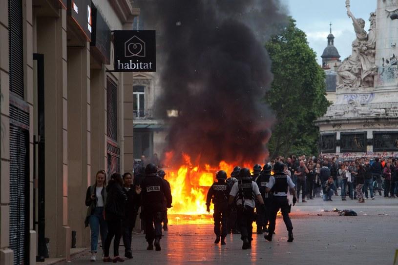 Ostatni protest w Paryżu przebiegł bardzo burzliwie /Ania Freindorf /Reporter