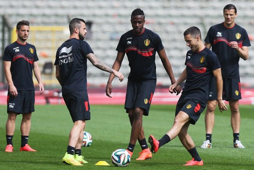 Ostatni trening Belgów przed wylotem do Brazylii /AFP