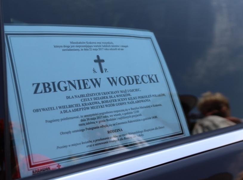 Ostatnie pożegnanie Zbigniewa Wodeckiego w Krakowie /Jan Gaczyński /East News