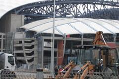 Ostatnie prace przed oddaniem stadionu na Euro 2012