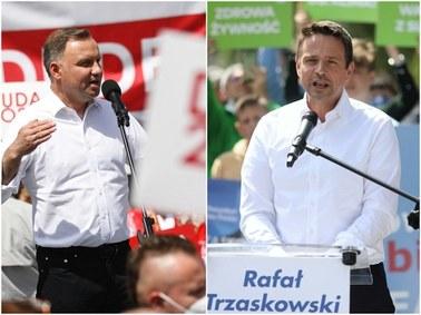 Ostatnie sondaże przed ciszą wyborczą: Andrzej Duda i Rafał Trzaskowski idą łeb w łeb. Liczył się będzie każdy głos