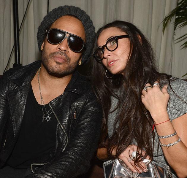 Ostatnio Demi Moore imprezowała z Lennym Kravitzem /Dimitrios Kambouris /Getty Images