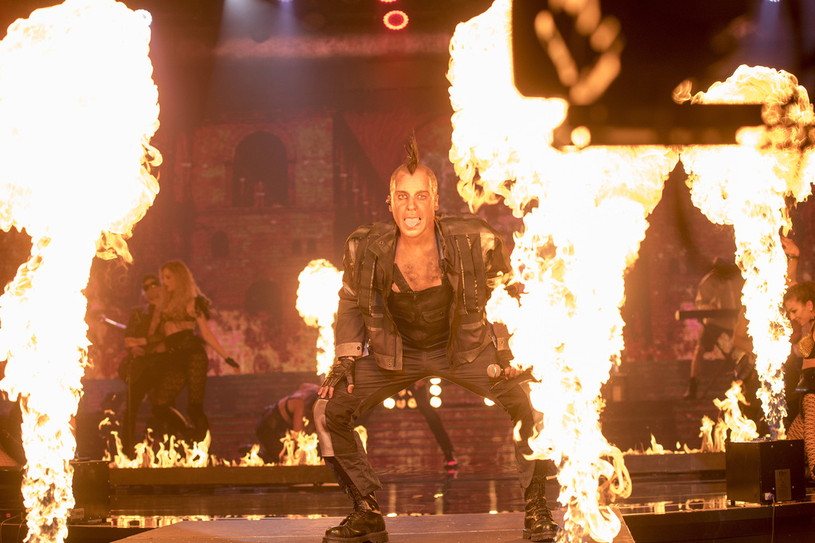 Ostatnio oglądaliśmy aktora jako Tilla Lindemanna z Rammsteina /M. Zawada /Polsat
