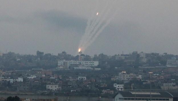 Ostrzał w Gazie /MOHAMMED SABER  /PAP/EPA