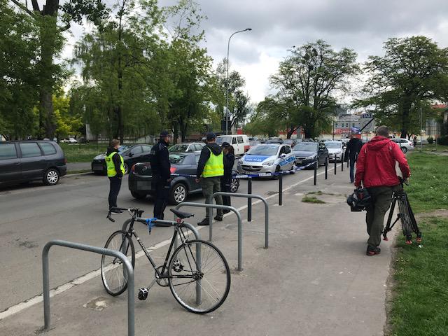 Ostrzelany przez policjantów samochód, którym uciekał Ukrainiec /Mateusz Czmiel /RMF FM